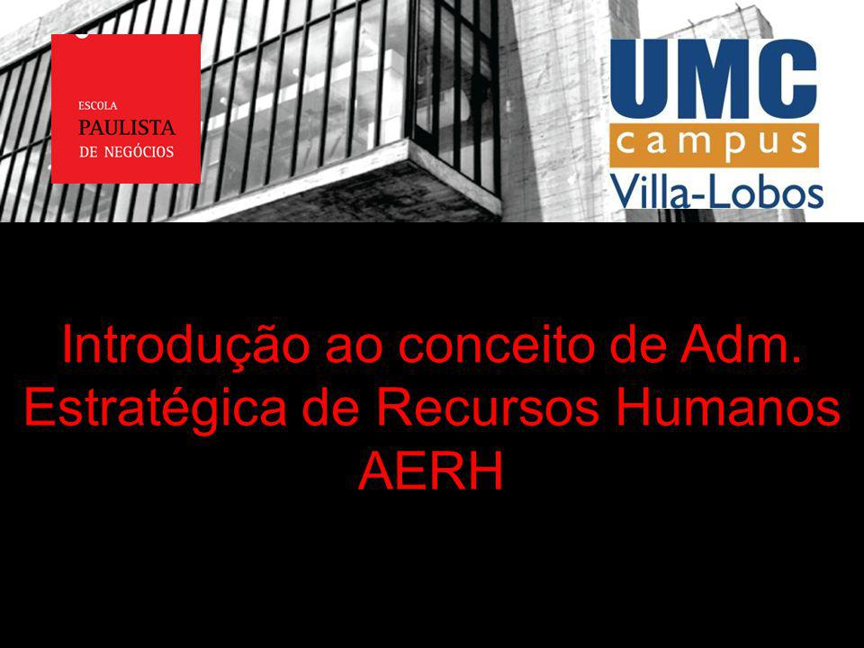 Introdução ao conceito de Adm. Estratégica de Recursos Humanos AERH