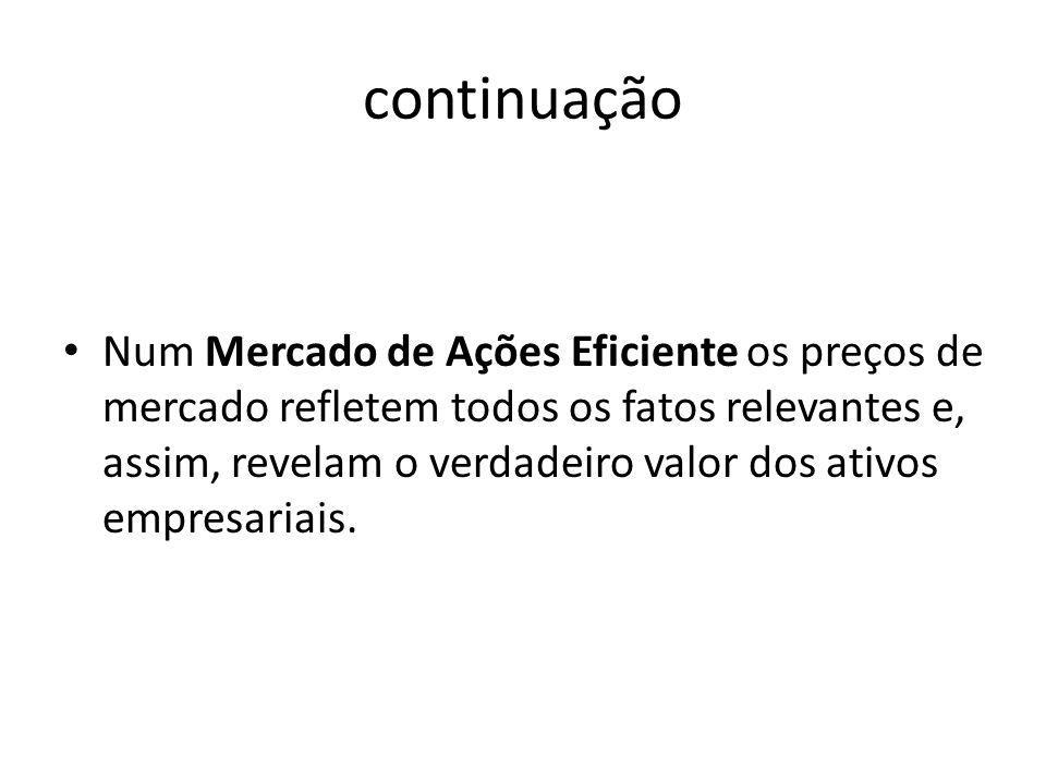 TEORIAS SOBRE POLÍTICAS DE DIVIDENDOS Teoria da Irrelevância...