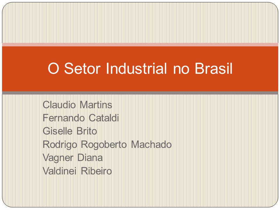 Claudio Martins Fernando Cataldi Giselle Brito Rodrigo Rogoberto Machado Vagner Diana Valdinei Ribeiro O Setor Industrial no Brasil
