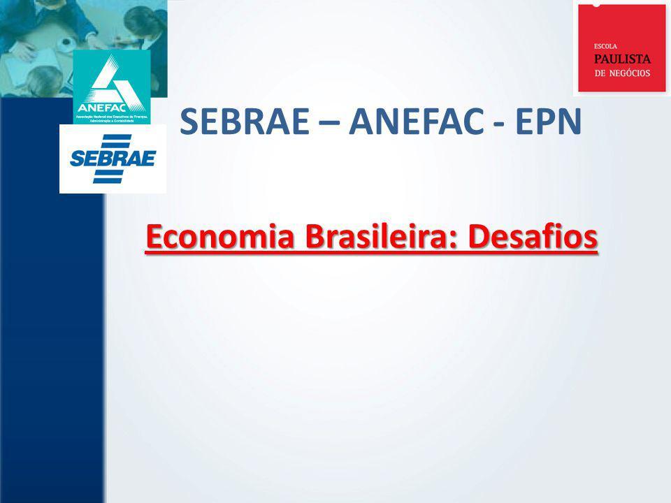 SEBRAE – ANEFAC - EPN Economia Brasileira: Desafios