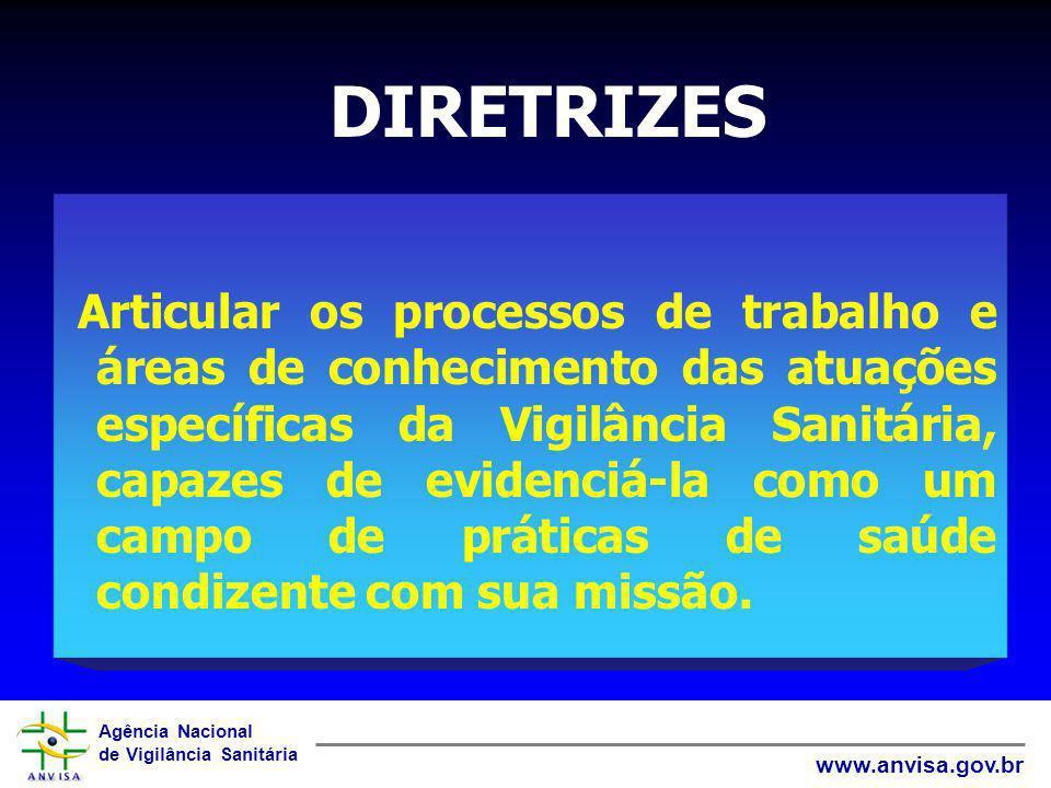 Agência Nacional de Vigilância Sanitária www.anvisa.gov.br Articular os processos de trabalho e áreas de conhecimento das atuações específicas da Vigi