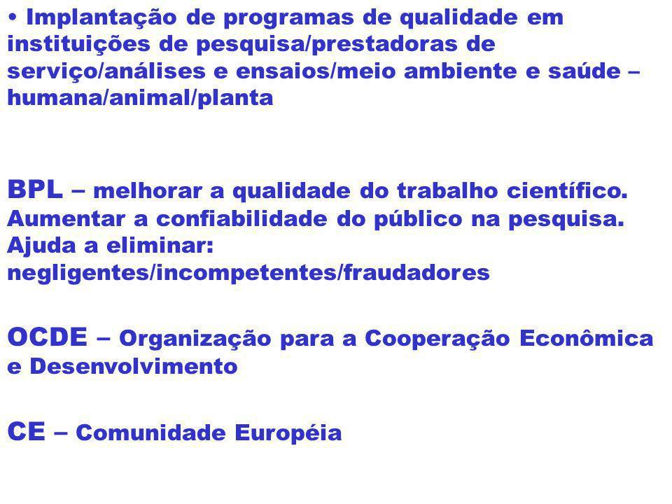 Brasil BPL - Análise Clínica Capacitação Técnica Confiabilidade dos resultados Garantia da qualidade do item Mercado Interno Importado ou Exportado Fo