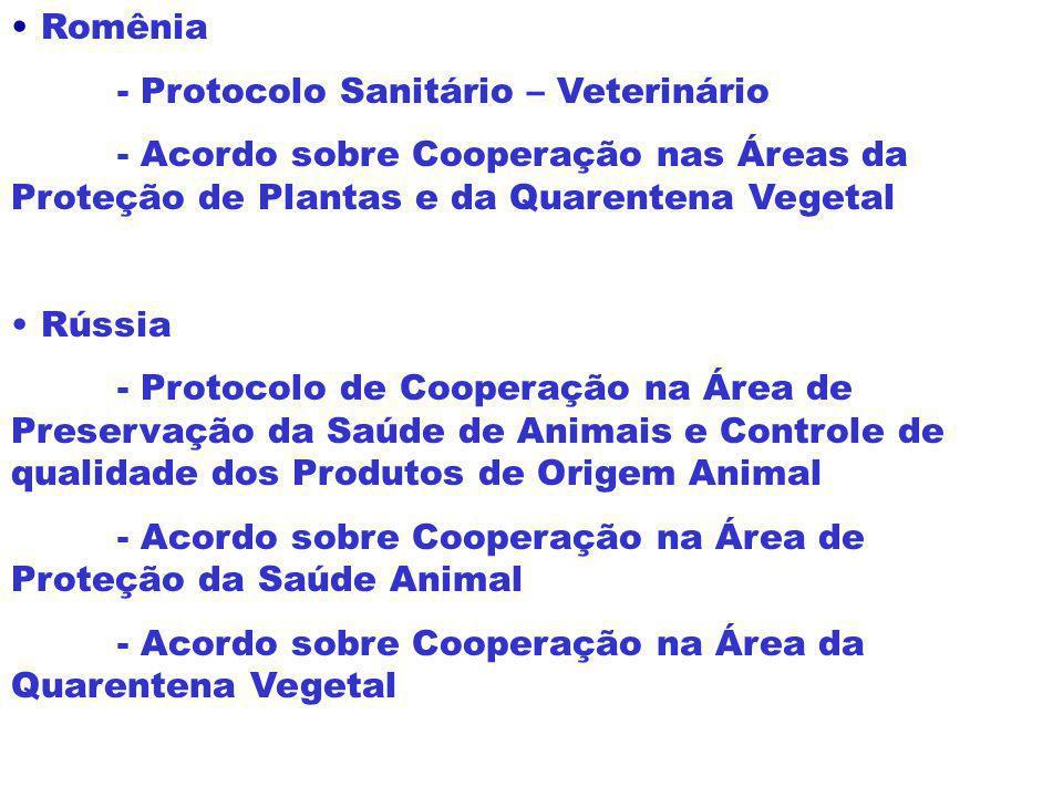 -EUA - Memorando de Entendimento Relativo a Consultas sobre Assuntos de Interesse Mútuo - Ajuste Complementar em Matéria de Saúde Animal e Sanidade Ve