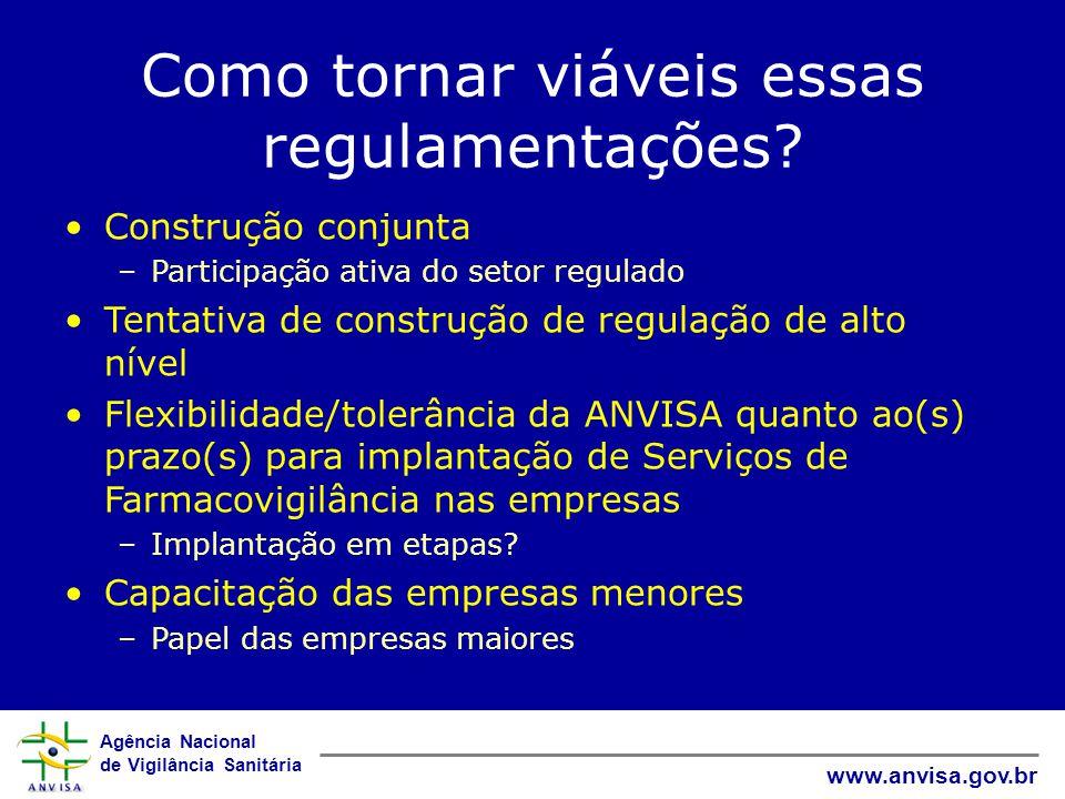Agência Nacional de Vigilância Sanitária www.anvisa.gov.br O que disso tudo se aplica à área de produtos para a saúde?