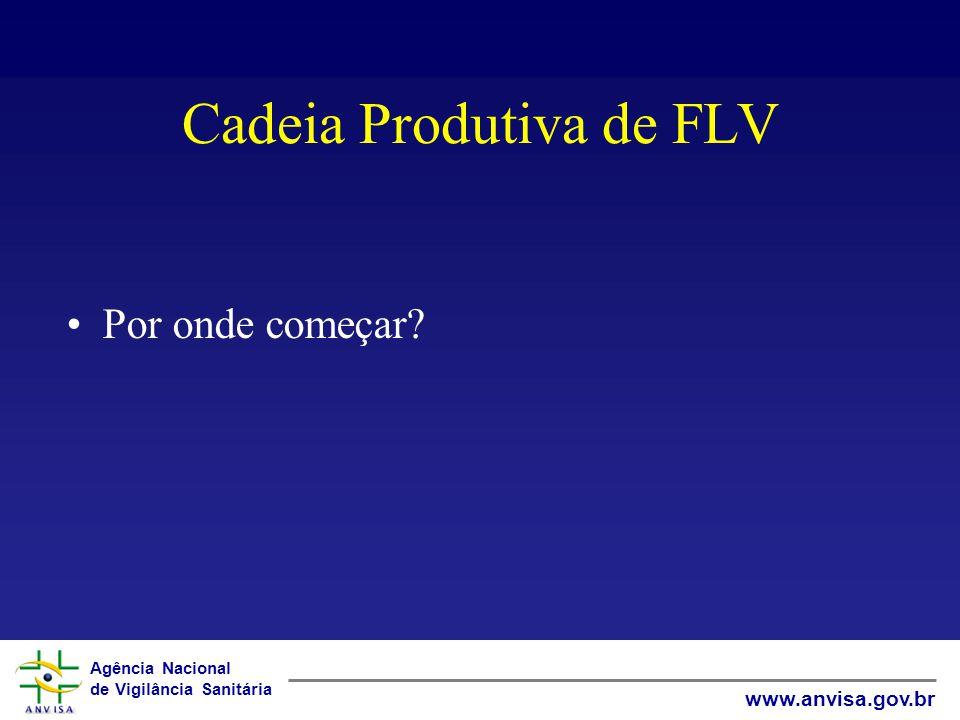 Agência Nacional de Vigilância Sanitária www.anvisa.gov.br Cadeia Produtiva de FLV Por onde começar?