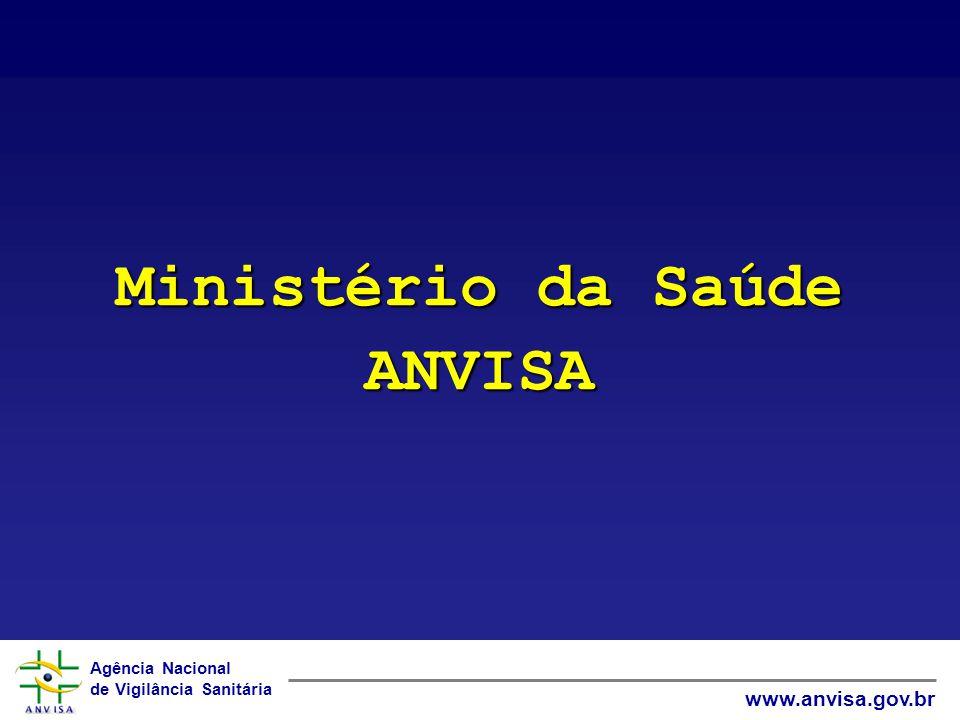 Agência Nacional de Vigilância Sanitária www.anvisa.gov.br Ministério da Saúde ANVISA