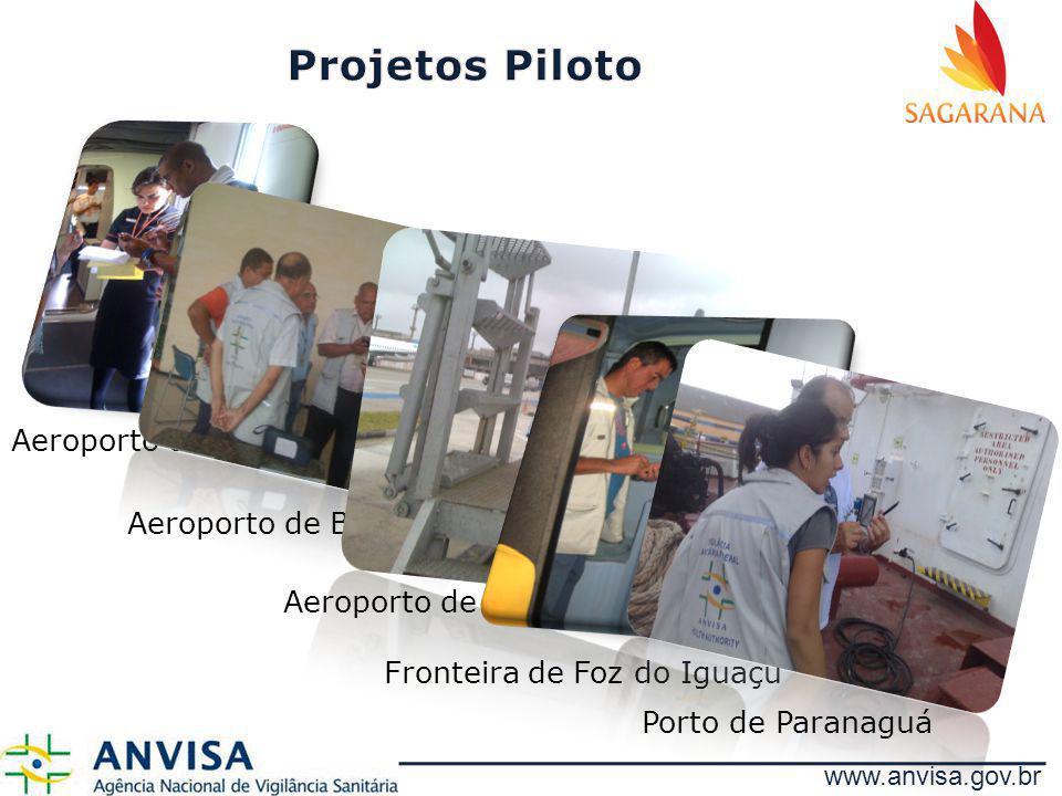 www.anvisa.gov.br Aeroporto de Brasília Aeroporto de Belém Aeroporto de Guarulhos Fronteira de Foz do Iguaçu Porto de Paranaguá