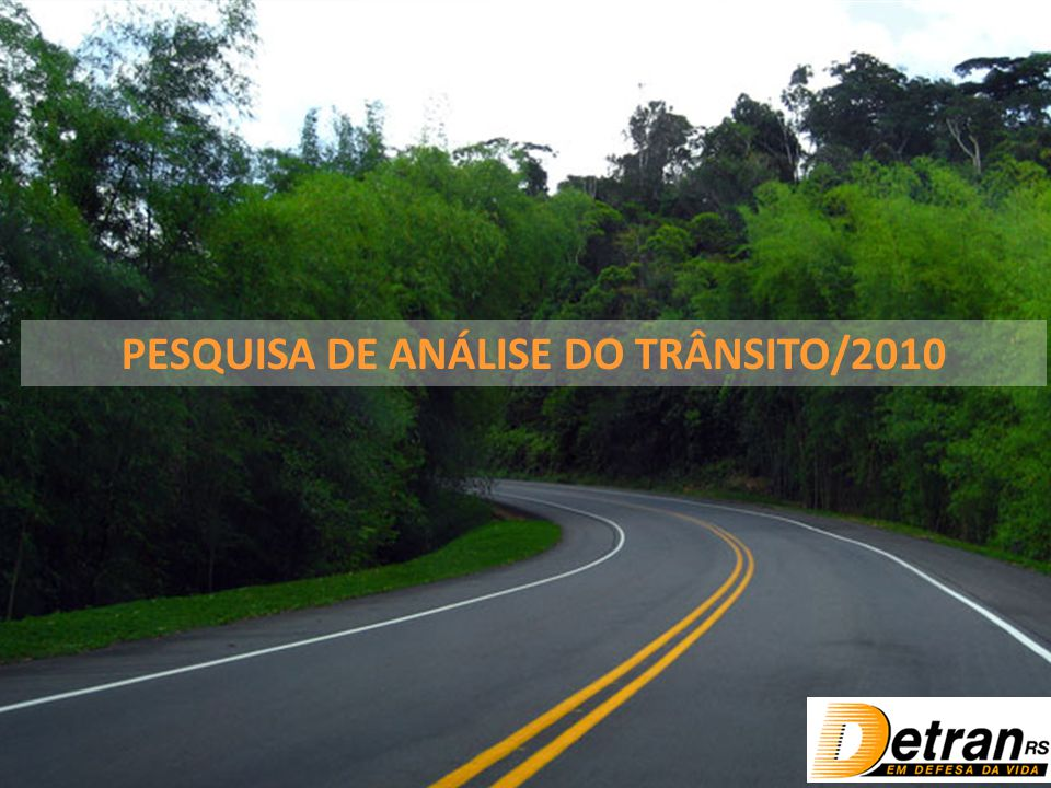 Focal Pesquisas – Abril de 2010 PESQUISA DE ANÁLISE DO TRÂNSITO/2010