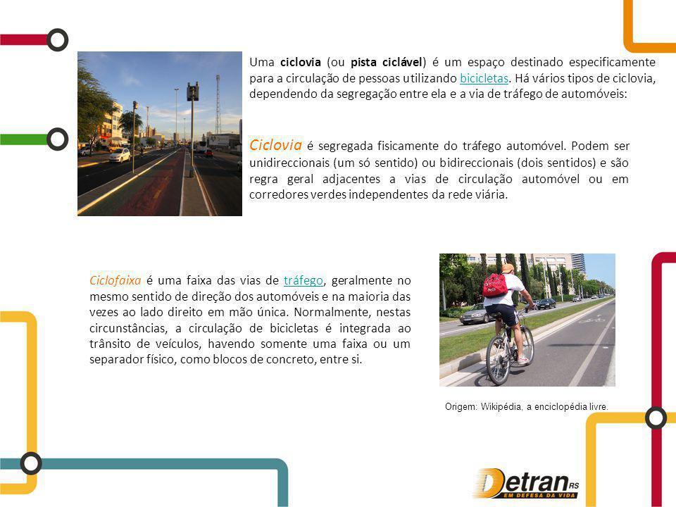 Ciclofaixa é uma faixa das vias de tráfego, geralmente no mesmo sentido de direção dos automóveis e na maioria das vezes ao lado direito em mão única.