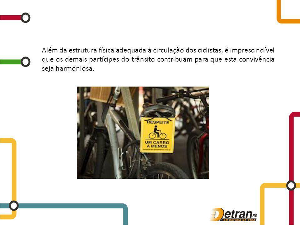 Além da estrutura física adequada à circulação dos ciclistas, é imprescindível que os demais partícipes do trânsito contribuam para que esta convivênc