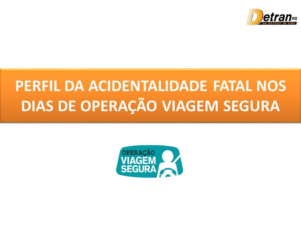 PERFIL DA ACIDENTALIDADE FATAL NOS DIAS DE OPERAÇÃO VIAGEM SEGURA
