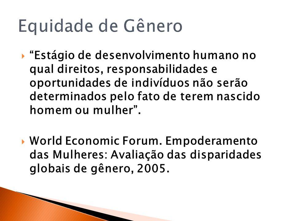 Estágio de desenvolvimento humano no qual direitos, responsabilidades e oportunidades de indivíduos não serão determinados pelo fato de terem nascido