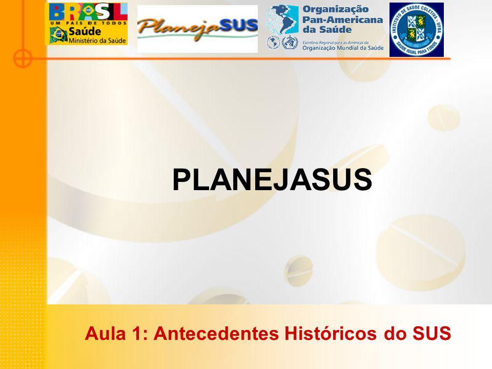 PLANEJASUS Aula 1: Antecedentes Históricos do SUS