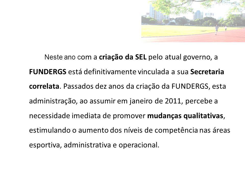 Neste ano c om a criação da SEL pelo atual governo, a FUNDERGS está definitivamente vinculada a sua Secretaria correlata.