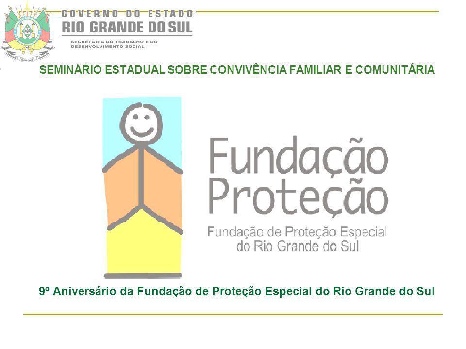 SEMINÁRIO ESTADUAL SOBRE CONVIVÊNCIA FAMILIAR E COMUNITÁRIA 9º Aniversário da Fundação de Proteção Especial do Rio Grande do Sul