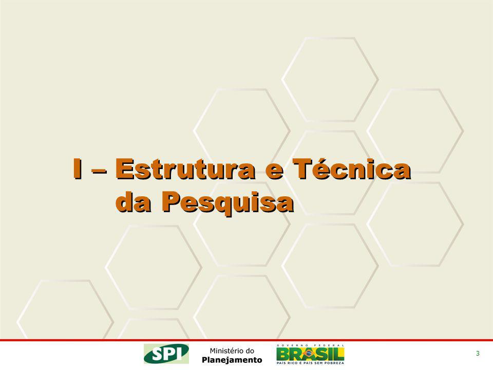 4 I - Estrutura e Técnica da Pesquisa Diagnóstico sobre as condições institucionais, legais, metodológicas e gerenciais da elaboração do PPA nos Estados da Federação.