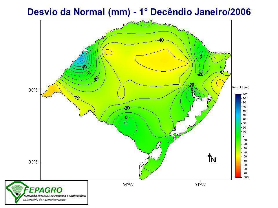 Precipitação Pluvial Normal - 2° Decêndio Janeiro Isoietas (mm) Normal Padrão 1945-1974