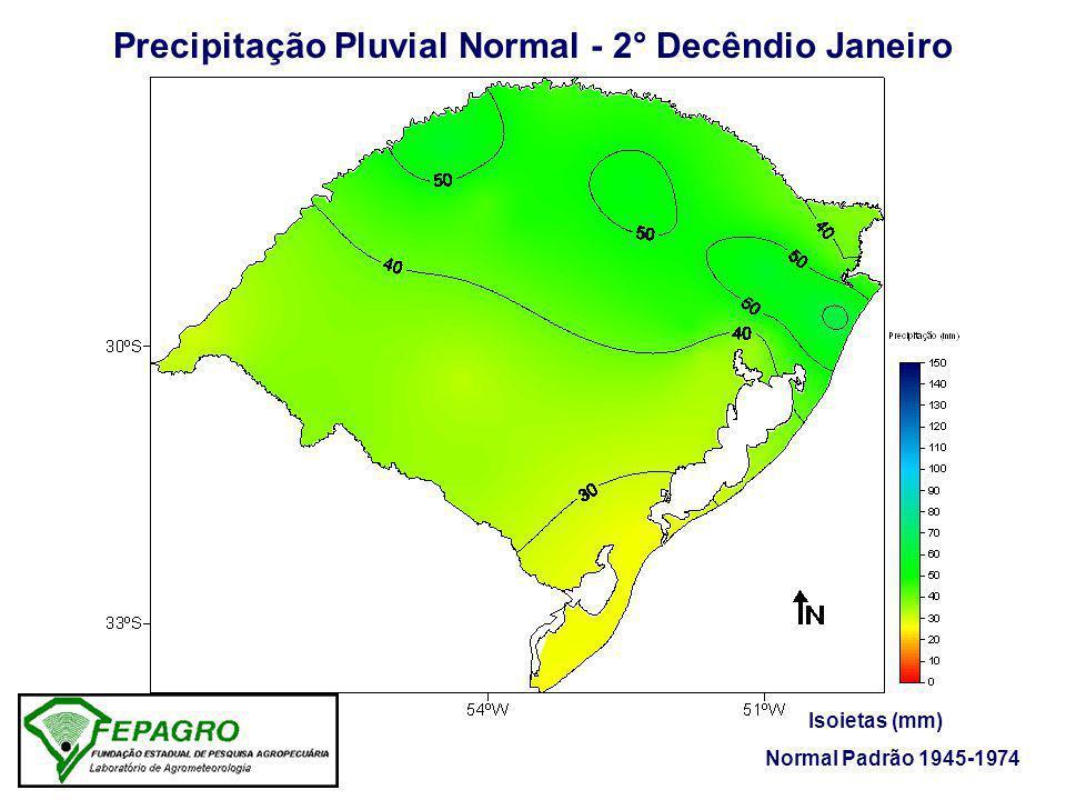 Precipitação Pluvial Ocorrida - 2° Decêndio Janeiro/2006 Isoietas (mm) Fonte: FEPAGRO / 8° DISME