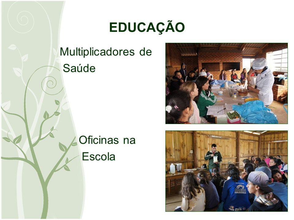 EDUCAÇÃO Multiplicadores de Saúde Oficinas na Escola
