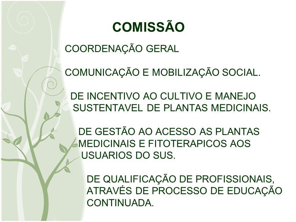 COMISSÃO COORDENAÇÃO GERAL COMUNICAÇÃO E MOBILIZAÇÃO SOCIAL.