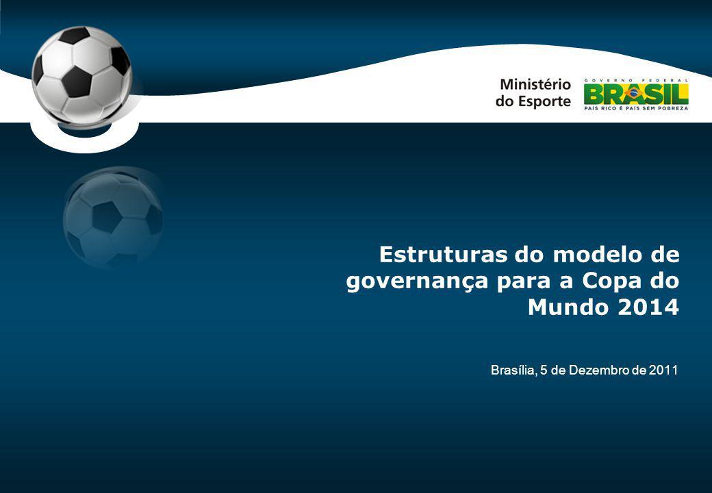 Code-P0 Brasília, 5 de Dezembro de 2011 Estruturas do modelo de governança para a Copa do Mundo 2014