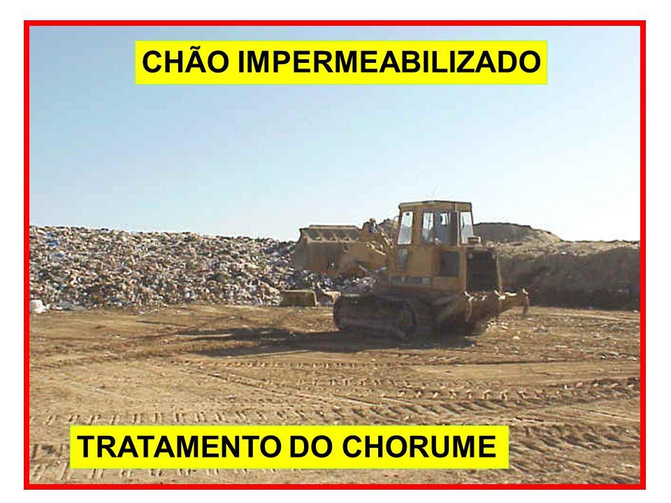 CHÃO IMPERMEABILIZADO TRATAMENTO DO CHORUME