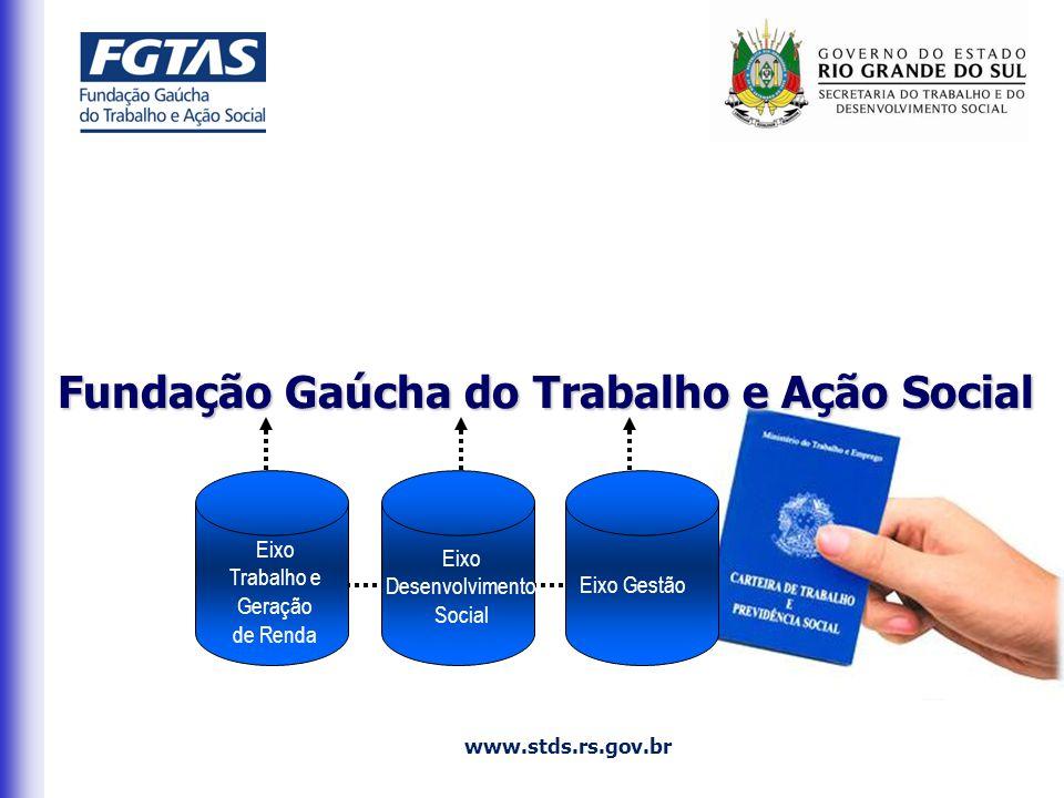 Eixo Desenvolvimento Social Eixo Trabalho e Geração de Renda Eixo Gestão www.stds.rs.gov.br Fundação Gaúcha do Trabalho e Ação Social