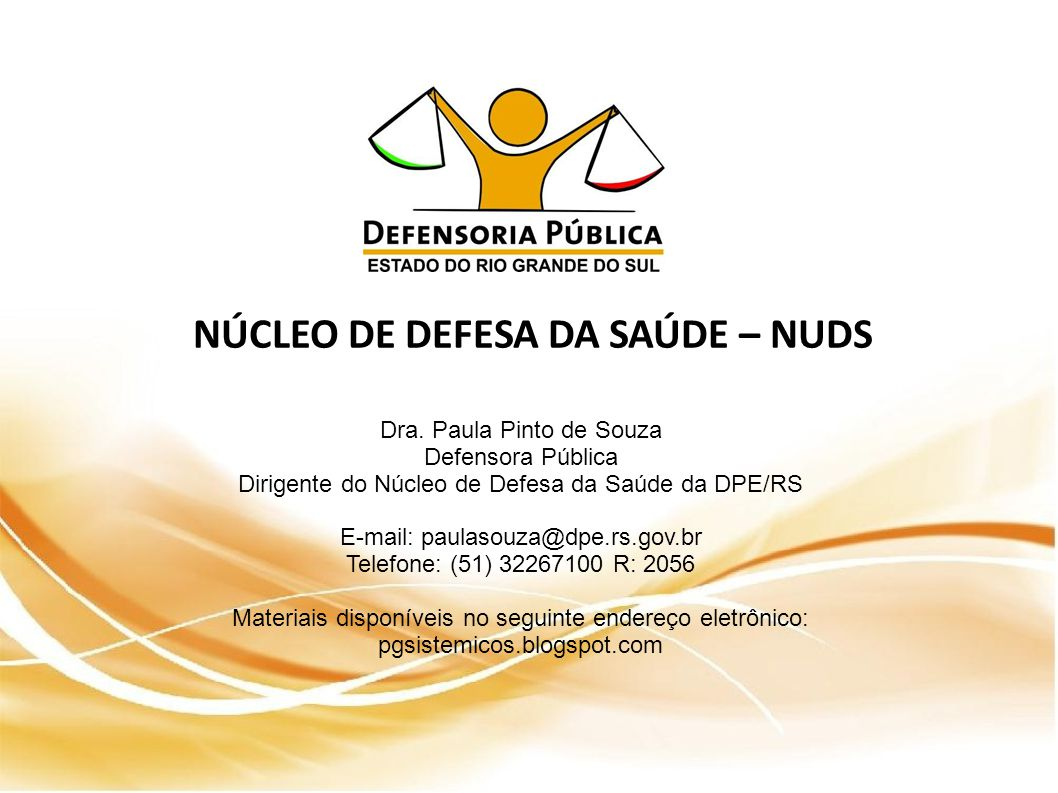 NÚCLEO DE DEFESA DA SAÚDE – NUDS Dra.