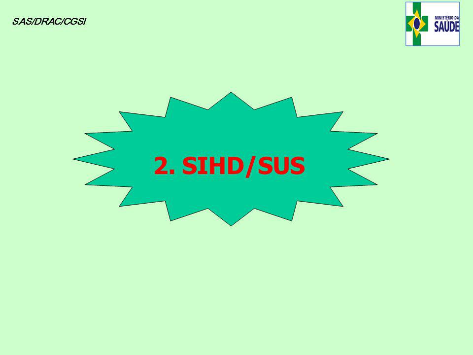 SAS/DRAC/CGSI 2. SIHD/SUS