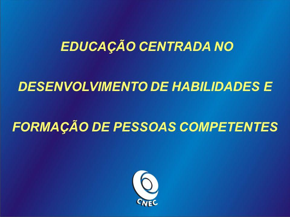 EDUCAÇÃO CENTRADA NO DESENVOLVIMENTO DE HABILIDADES E FORMAÇÃO DE PESSOAS COMPETENTES