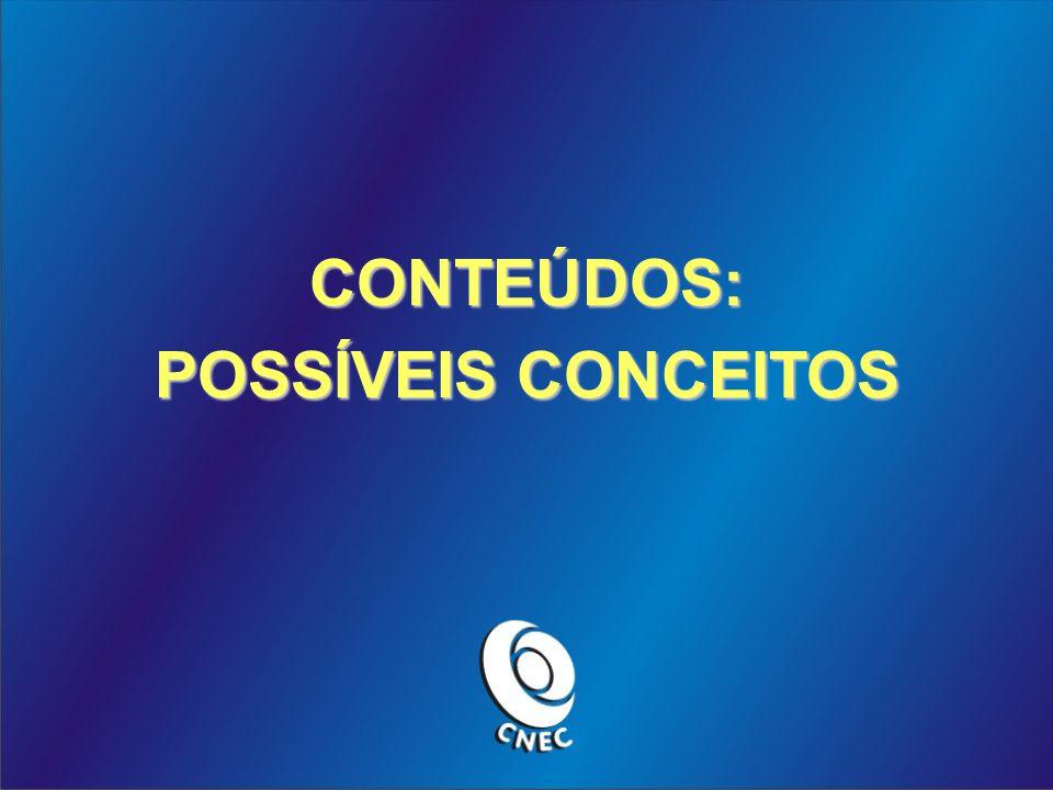 CONTEÚDOS: POSSÍVEIS CONCEITOS