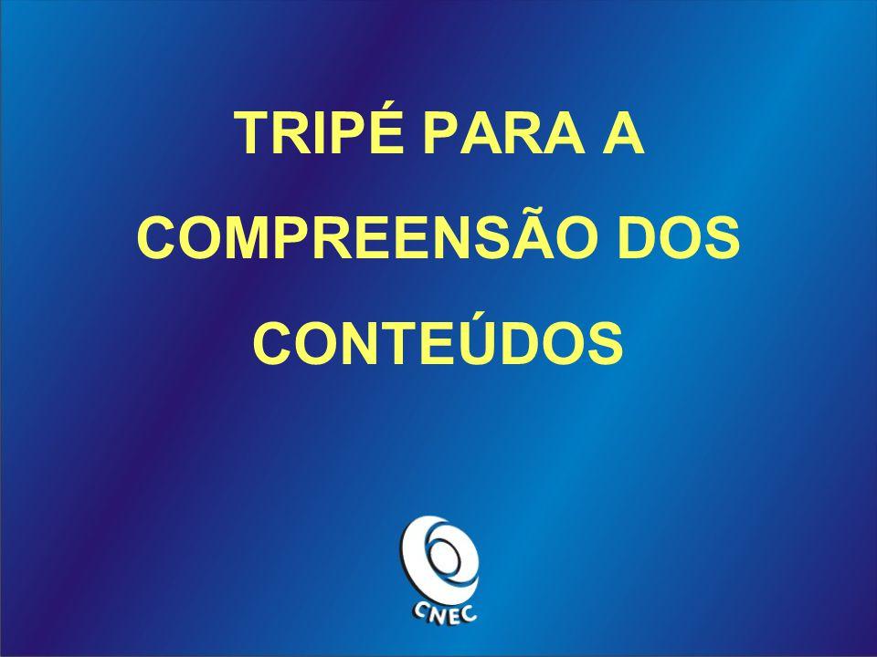 TRIPÉ PARA A COMPREENSÃO DOS CONTEÚDOS