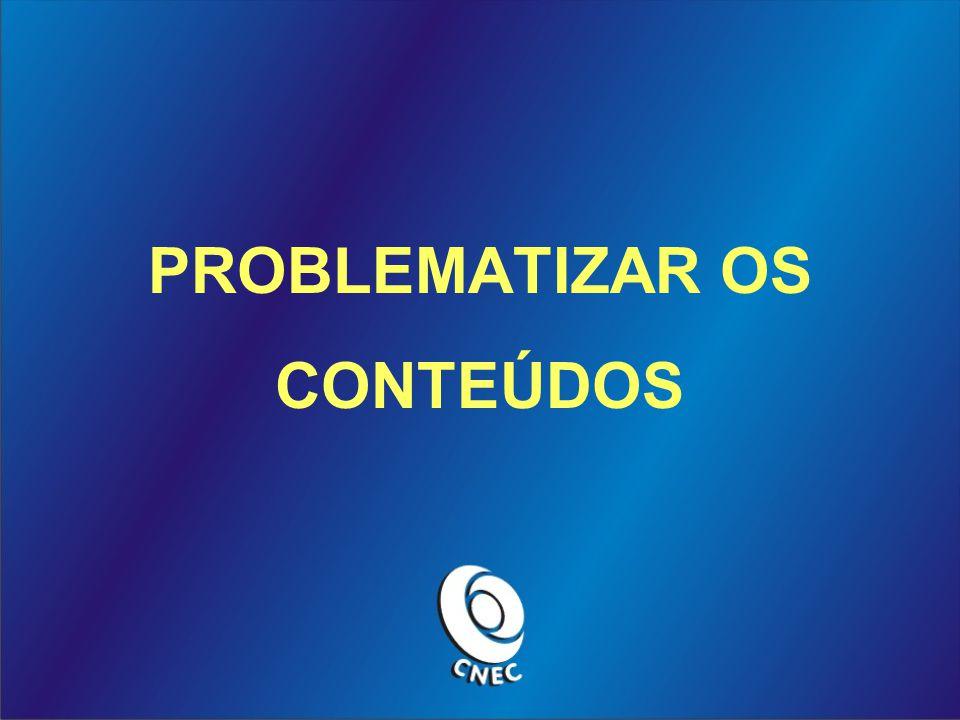 PROBLEMATIZAR OS CONTEÚDOS