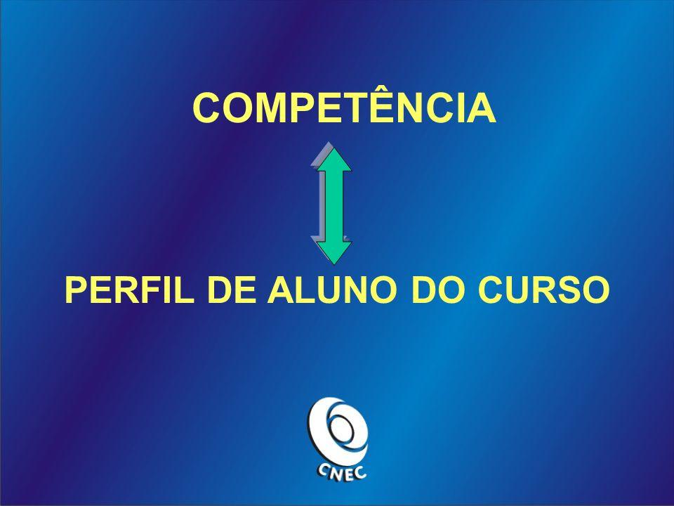COMPETÊNCIA PERFIL DE ALUNO DO CURSO