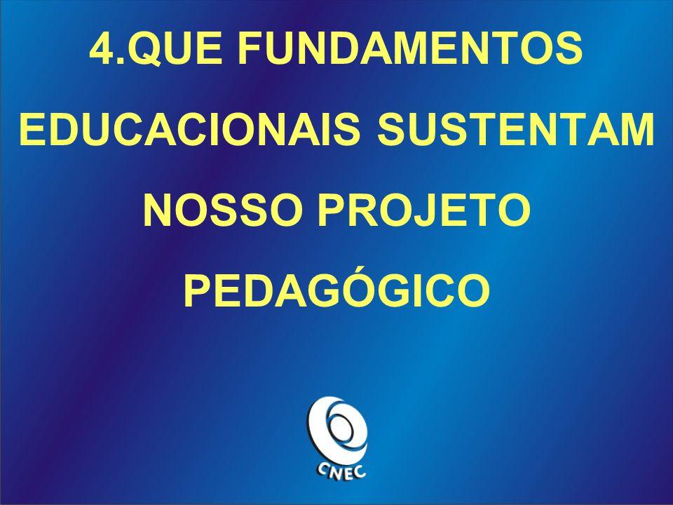4.QUE FUNDAMENTOS EDUCACIONAIS SUSTENTAM NOSSO PROJETO PEDAGÓGICO