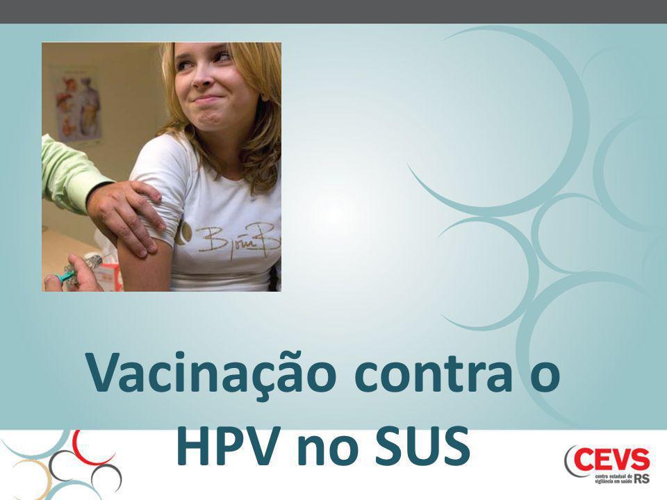 Vacinação contra o HPV no SUS