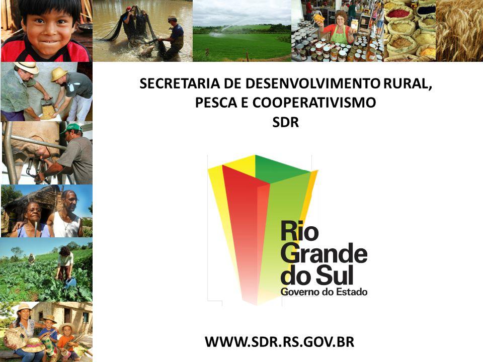 SECRETARIA DE DESENVOLVIMENTO RURAL, PESCA E COOPERATIVISMO SDR WWW.SDR.RS.GOV.BR