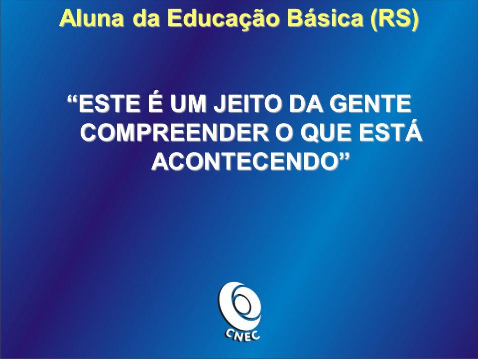 Aluna da Educação Básica (RS) ESTE É UM JEITO DA GENTE COMPREENDER O QUE ESTÁ ACONTECENDO