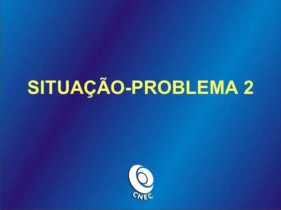 PASSO 4 Da união das situações e dos problemas temos a situação-problema.