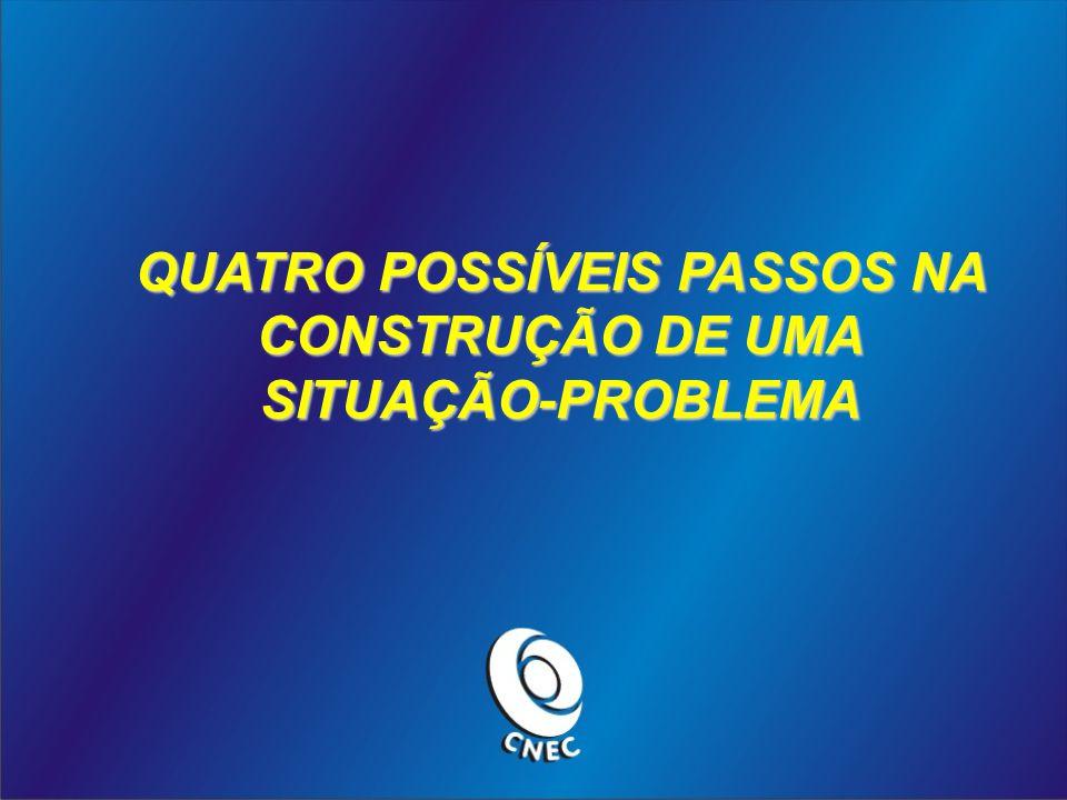 QUATRO POSSÍVEIS PASSOS NA CONSTRUÇÃO DE UMA SITUAÇÃO-PROBLEMA