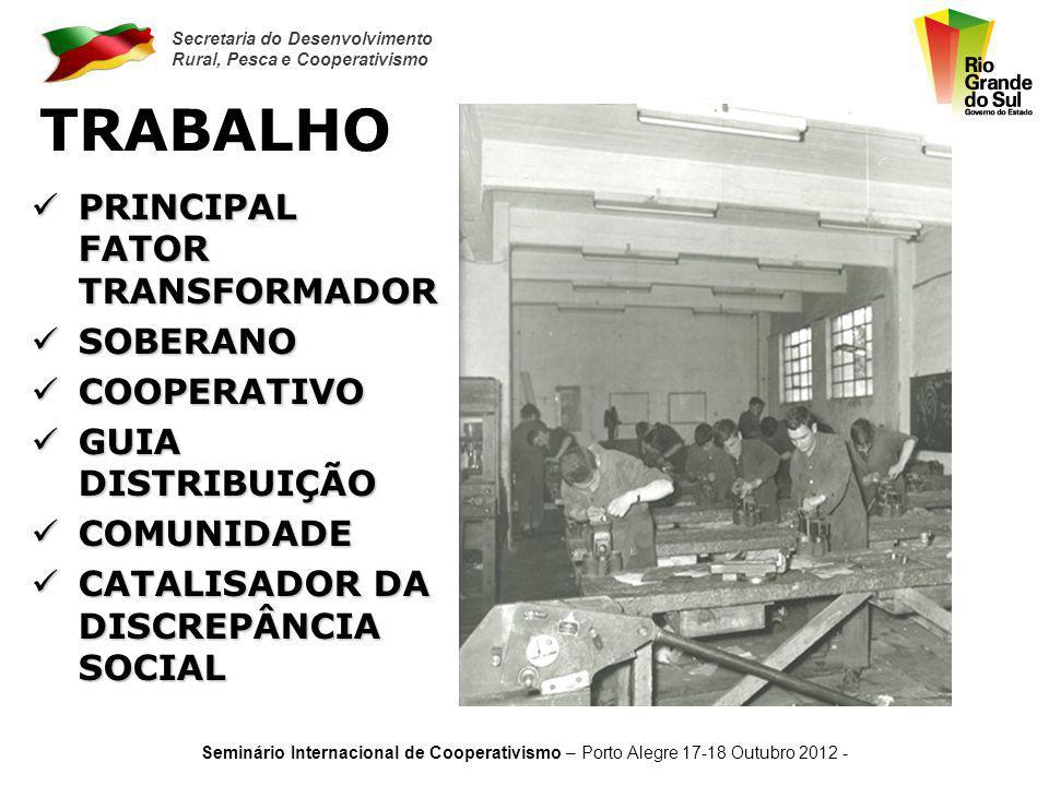 Secretaria do Desenvolvimento Rural, Pesca e Cooperativismo Seminário Internacional de Cooperativismo – Porto Alegre 17-18 Outubro 2012 - LIDERANÇA HU