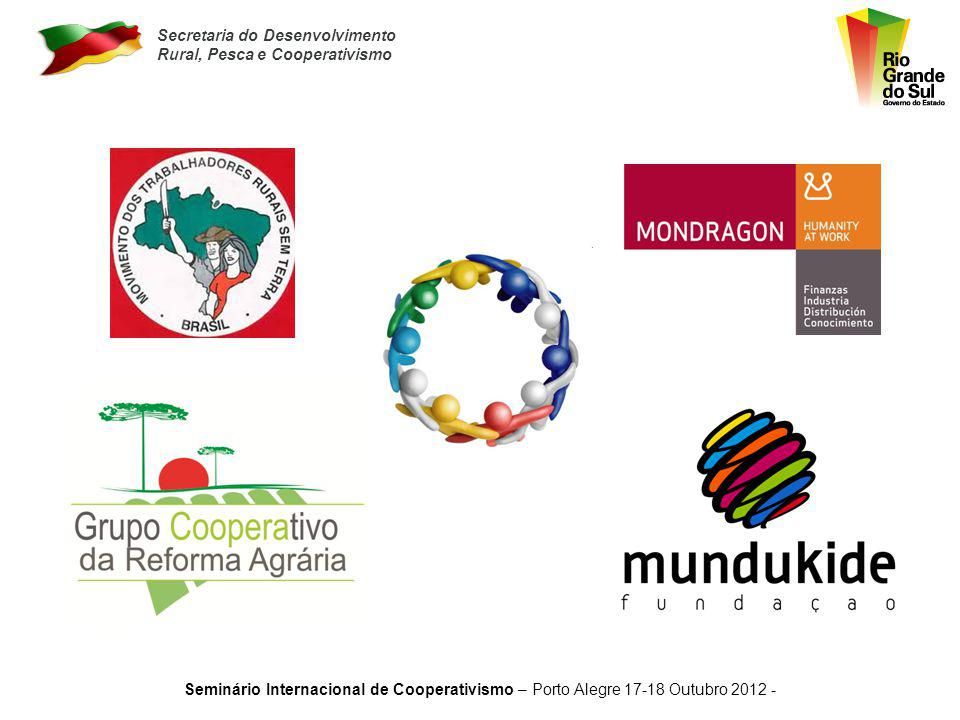 Secretaria do Desenvolvimento Rural, Pesca e Cooperativismo Seminário Internacional de Cooperativismo – Porto Alegre 17-18 Outubro 2012 - Apolônio Pin