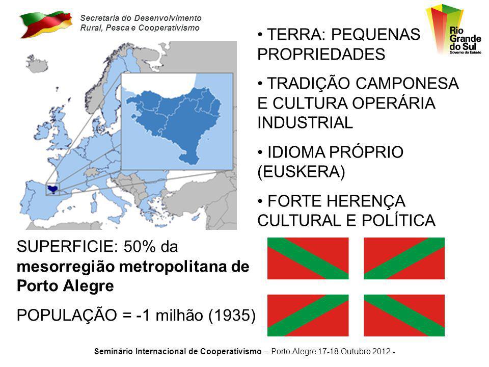 Secretaria do Desenvolvimento Rural, Pesca e Cooperativismo Seminário Internacional de Cooperativismo – Porto Alegre 17-18 Outubro 2012 - 1.