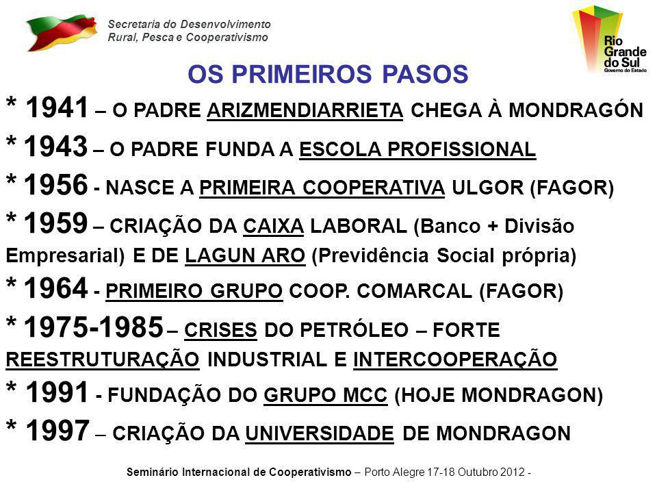 Secretaria do Desenvolvimento Rural, Pesca e Cooperativismo Seminário Internacional de Cooperativismo – Porto Alegre 17-18 Outubro 2012 - MUITO OBRIGADO POR O SEU TEMPO E A SUA ATENÇÃO !.