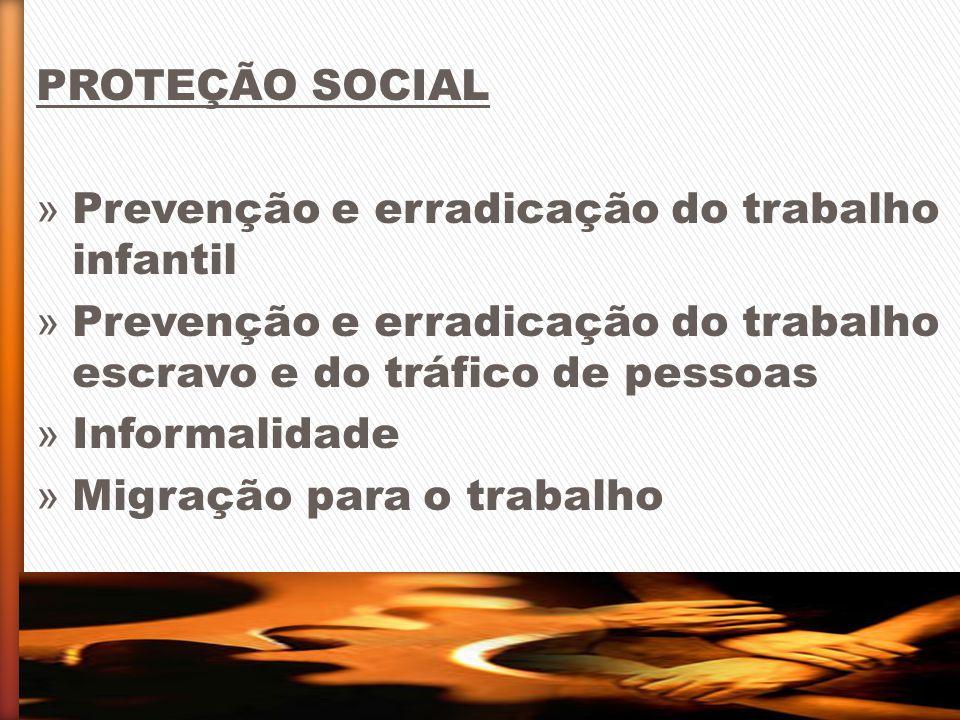 PROTEÇÃO SOCIAL » Prevenção e erradicação do trabalho infantil » Prevenção e erradicação do trabalho escravo e do tráfico de pessoas » Informalidade »