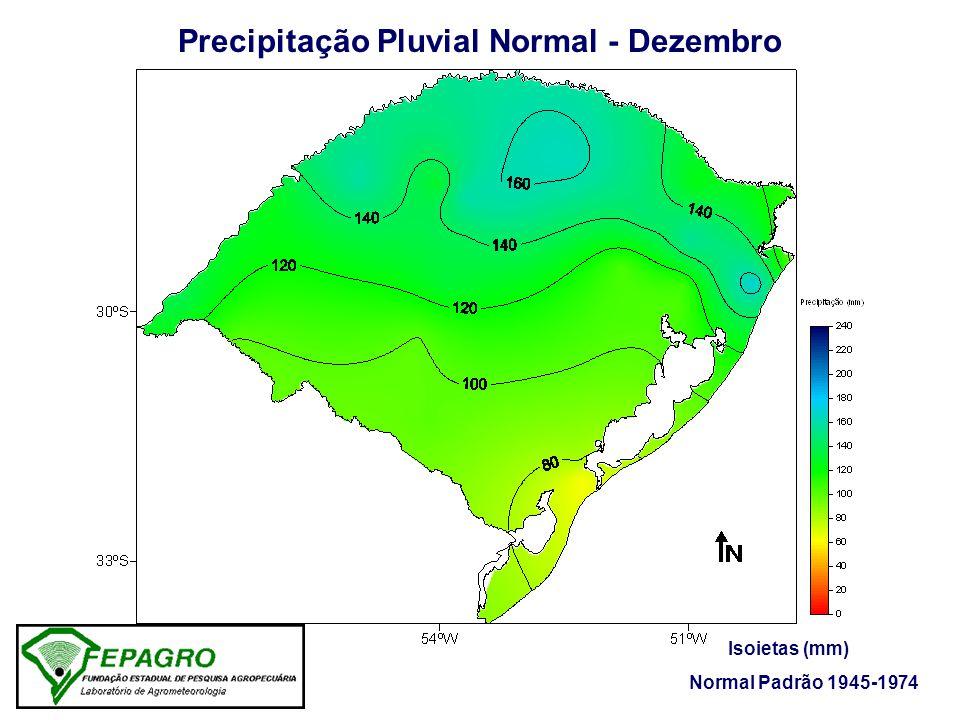 Precipitação Pluvial Normal - Dezembro Isoietas (mm) Normal Padrão 1945-1974
