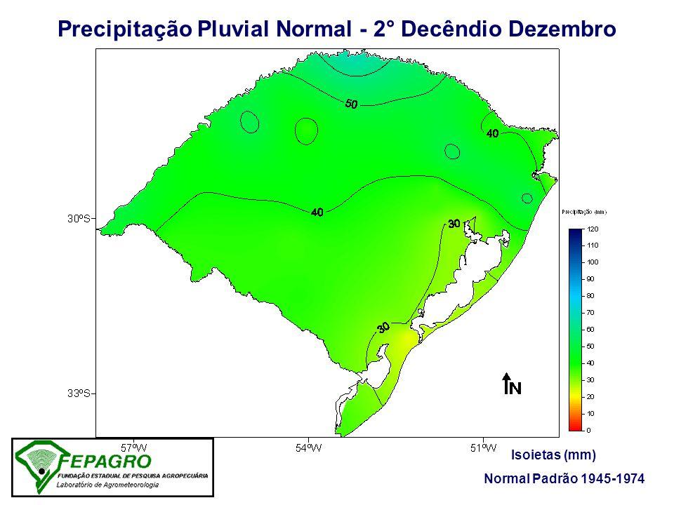 Precipitação Pluvial Normal - 2° Decêndio Dezembro Isoietas (mm) Normal Padrão 1945-1974