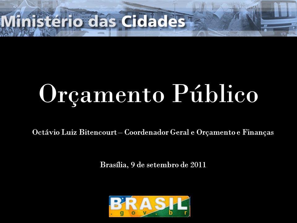 7/6/2014Brasília1 Orçamento Público Octávio Luiz Bitencourt – Coordenador Geral e Orçamento e Finanças Brasília, 9 de setembro de 2011