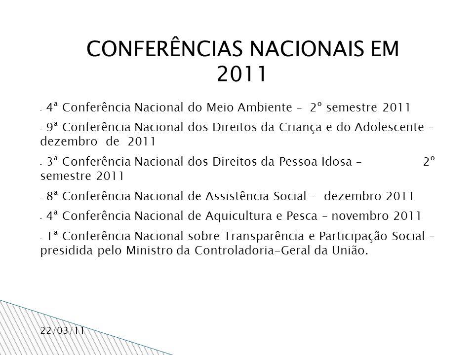 Os diferentes fóruns participativos desenvolvidos no Estado, como os conselhos setoriais de direitos e de políticas públicas, serão convidados para participar deste concerto.