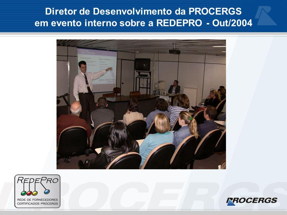 Diretor de Desenvolvimento da PROCERGS em evento interno sobre a REDEPRO - Out/2004